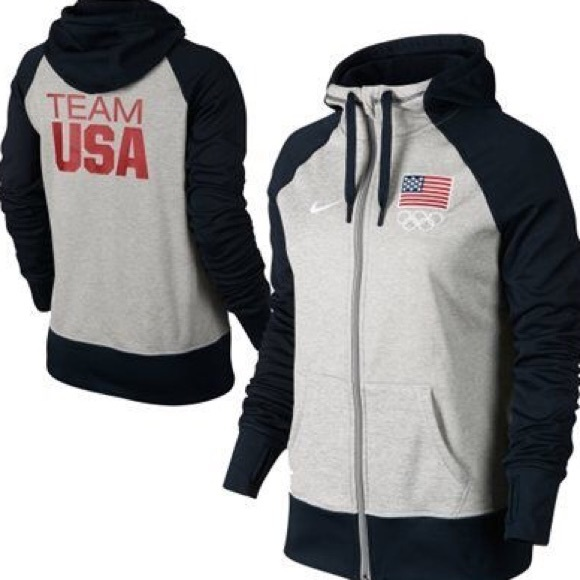 cabf81da6 NIKE ThermaFit Team USA Zip Up Hoodie 🇺🇸❤️
